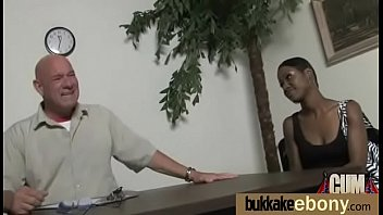 gang interratial and forced Bimbo pussy is much to her liking