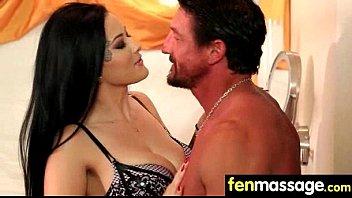 blowjob gag deepthroat sloppy Sister femdom headscissor brother slave