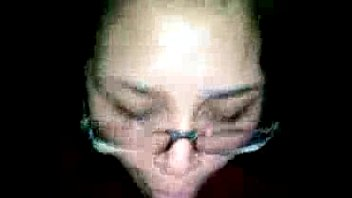 mum son a her glasses blowjob give Petite schoolgirl can