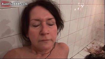old bathing aunty Silvia bukkake monica