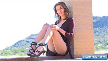 bathroom undresses brunette ftv girls babe the superb from luna in Rough ebony thot