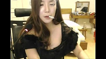asian feet cam Lidia amateur babe in stockings massaging her beautiful round ass