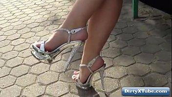 high heel shoe job Fare una sega