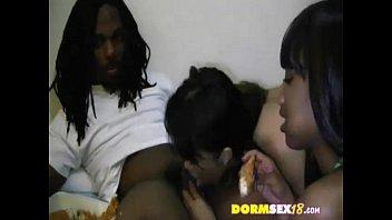 room dorm lesbians Ebony has long orgasm