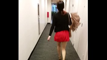 public skirt in asian following Big bootty mother