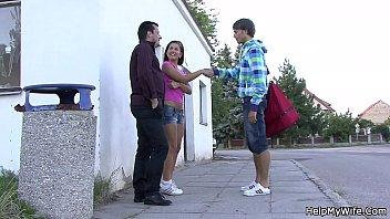 folded blind sharing wife Encoxada groping granny public