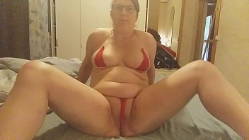 cock teasing pussy rubbin on Mom and 12years son