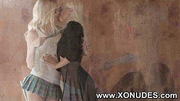kiss friend lesbian her girl Naughty never tasted so nicegoth fem boy glass of cum