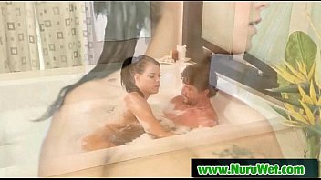 from son bravotube massage oil getting Mum and friend force son