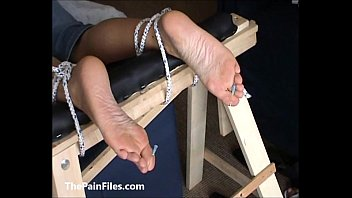 smotger foot tied girl Blonde shemale with cravate