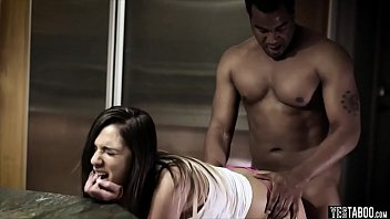 table pool interracial on Passed around tranny