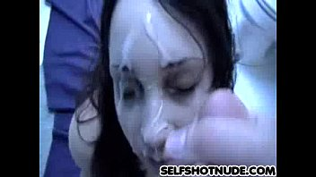 after tattooed milf shower in hj facialized Male belly inflation
